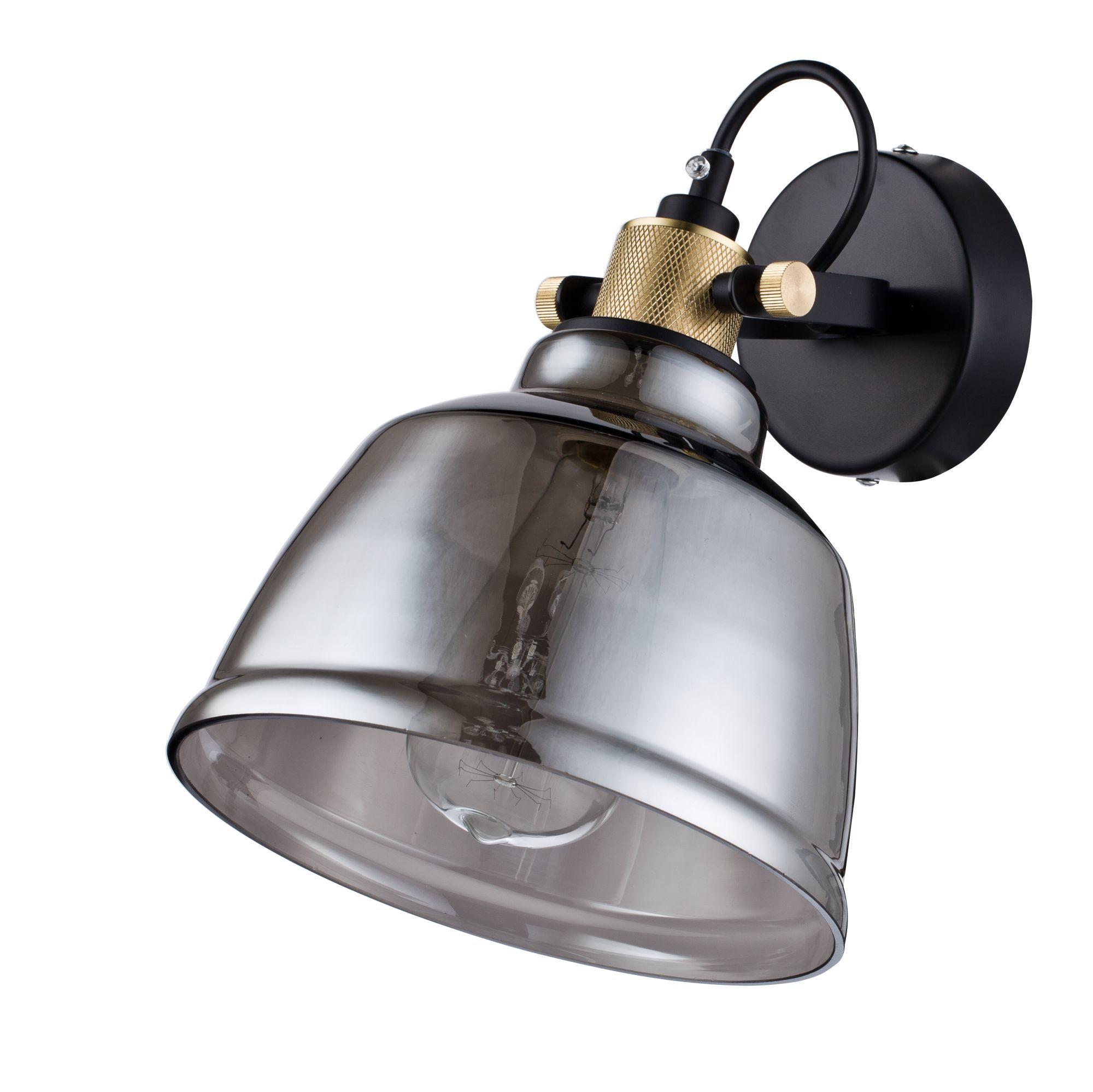 Настенный светильник с регулировкой направления света Maytoni Modern Irving T163-01-C, 1xE27x40W, черный, дымчатый, металл, стекло - фото 3