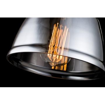 Настенный светильник с регулировкой направления света Maytoni Modern Irving T163-01-C, 1xE27x40W, черный, дымчатый, металл, стекло - миниатюра 5