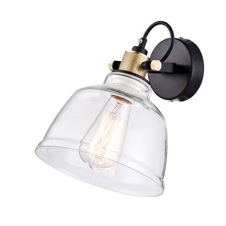 Настенный светильник с регулировкой направления света Maytoni Modern Irving T163-01-W, 1xE27x40W, черный, прозрачный, металл, стекло