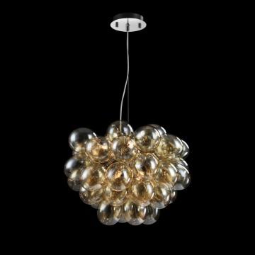 Подвесная люстра Maytoni Balbo MOD112-08-G, 8xG9x28W, никель, янтарь, металл, стекло - миниатюра 2