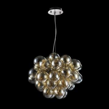 Подвесная люстра Maytoni Balbo MOD112-08-G, 8xG9x28W, никель, янтарь, металл, стекло - миниатюра 3