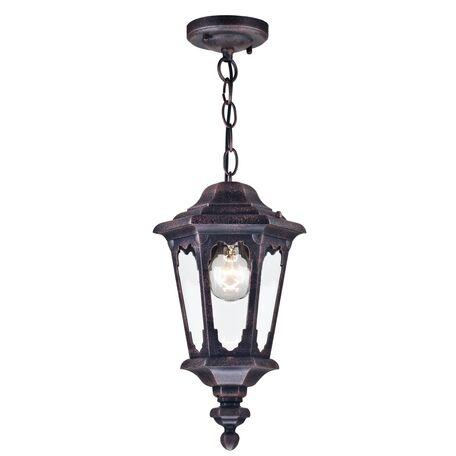 Подвесной светильник Maytoni Oxford S101-10-41-B, IP44, 1xE27x60W, черный, прозрачный, металл, металл со стеклом