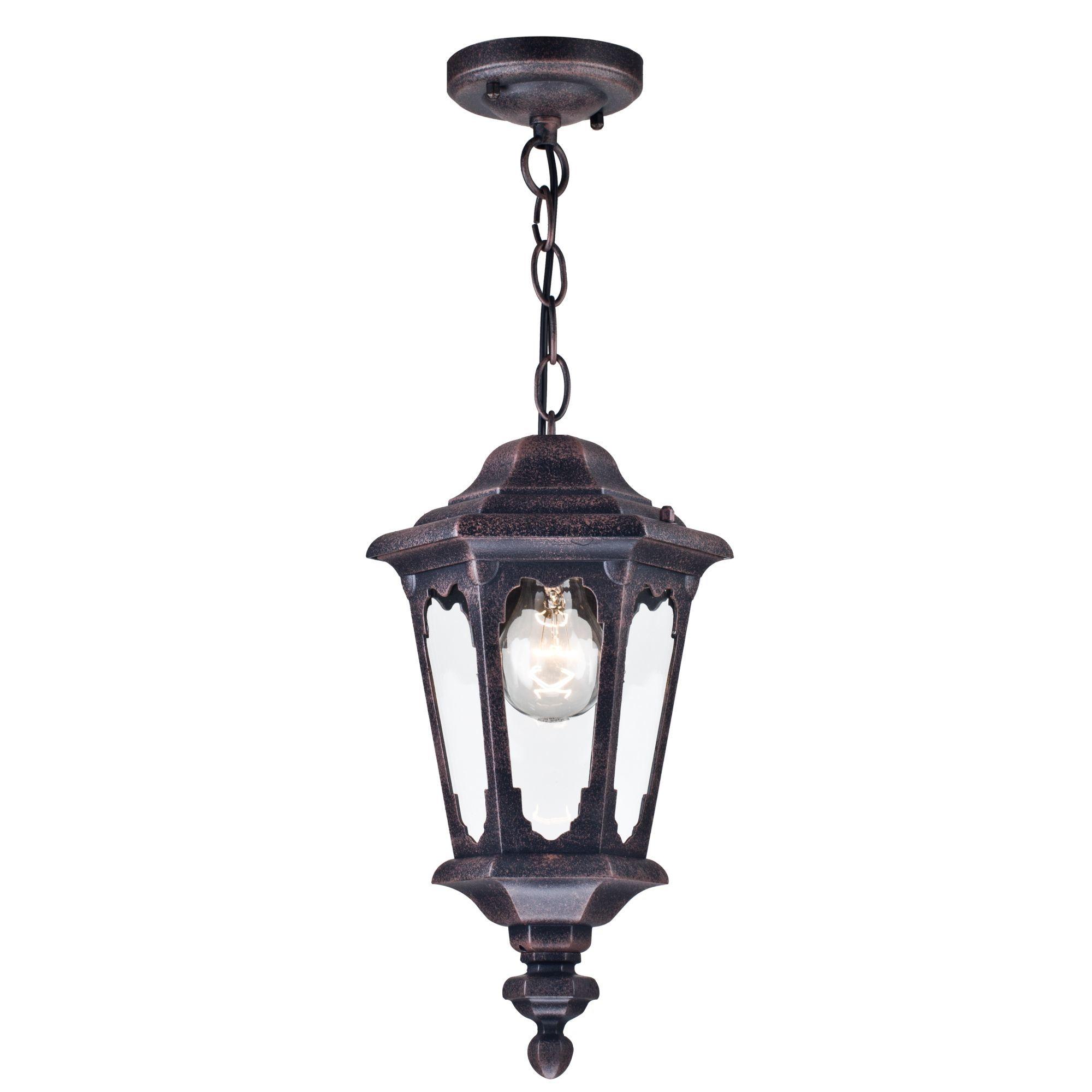 Подвесной светильник Maytoni Oxford S101-10-41-B, IP44, 1xE27x60W, черный, прозрачный, металл, металл со стеклом - фото 1