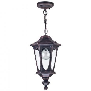Подвесной светильник Maytoni Oxford S101-10-41-B, IP44, 1xE27x60W, черный, прозрачный, металл, стекло - миниатюра 2