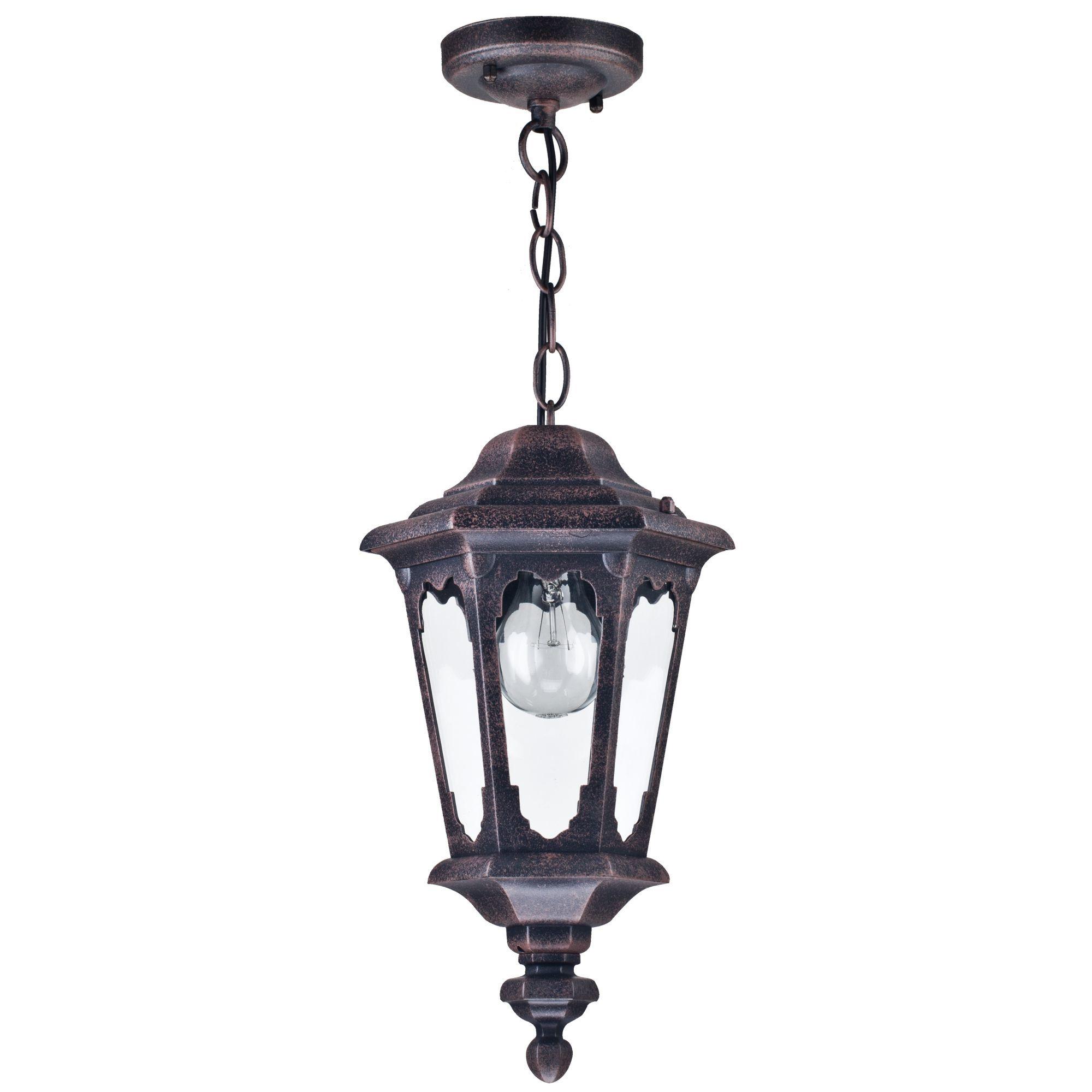 Подвесной светильник Maytoni Oxford S101-10-41-B, IP44, 1xE27x60W, черный, прозрачный, металл, стекло - фото 2