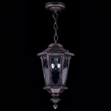 Подвесной светильник Maytoni Oxford S101-10-41-B, IP44, 1xE27x60W, черный, прозрачный, металл, стекло - миниатюра 3