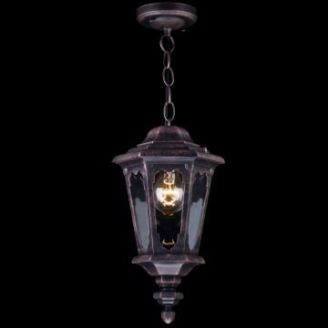 Подвесной светильник Maytoni Oxford S101-10-41-B, IP44, 1xE27x60W, черный, прозрачный, металл, стекло - миниатюра 4