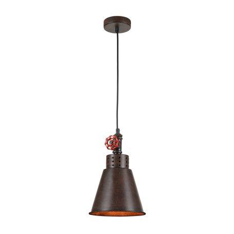 Подвесной светильник Maytoni Valve T020-01-R, 1xE27x60W, коричневый, металл - миниатюра 1