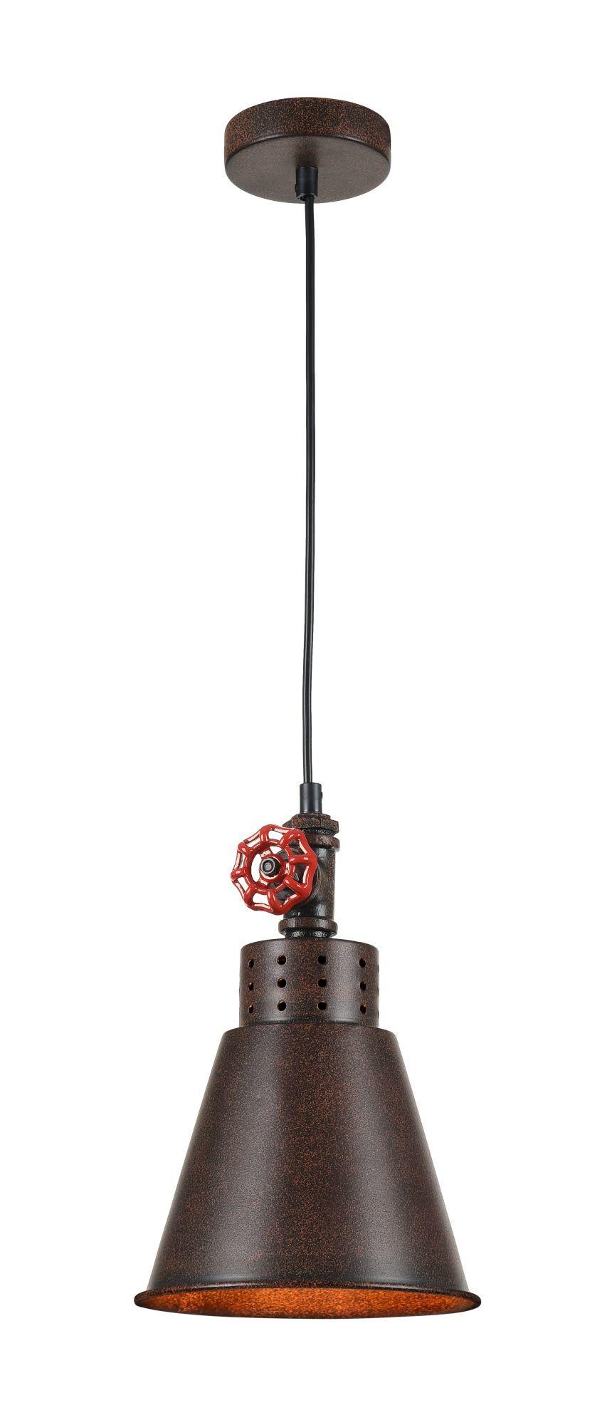 Подвесной светильник Maytoni Valve T020-01-R, 1xE27x60W, коричневый, металл - фото 1