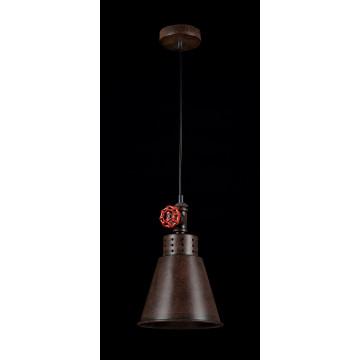 Подвесной светильник Maytoni Valve T020-01-R, 1xE27x60W, коричневый, металл - миниатюра 2