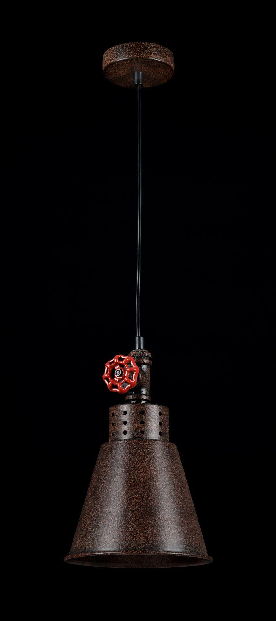 Подвесной светильник Maytoni Valve T020-01-R, 1xE27x60W, коричневый, металл - фото 2
