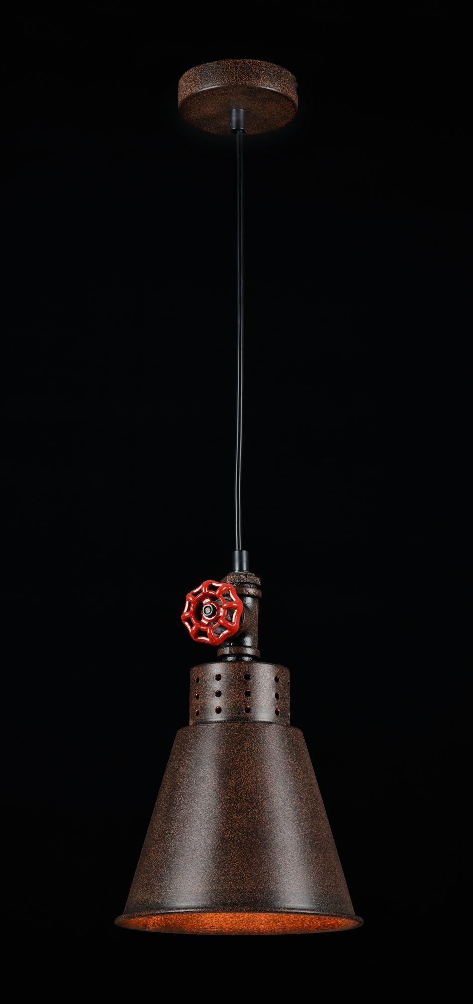 Подвесной светильник Maytoni Valve T020-01-R, 1xE27x60W, коричневый, металл - фото 3