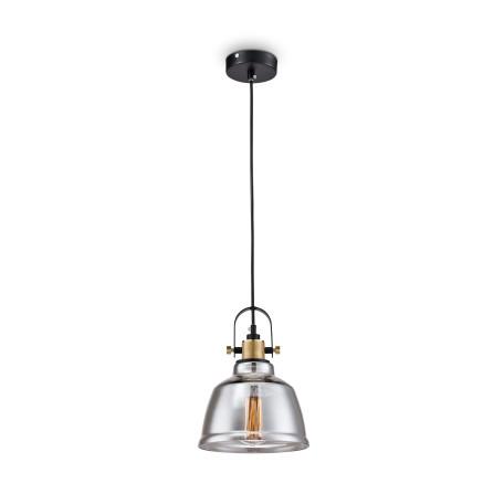 Подвесной светильник Maytoni Modern Irving T163-11-C, 1xE27x40W, черный, дымчатый, металл, стекло