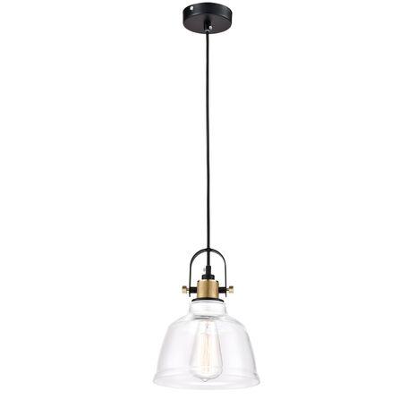 Подвесной светильник Maytoni Modern Irving T163-11-W, 1xE27x40W, черный, прозрачный, металл, стекло