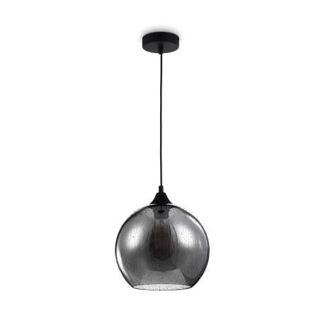 Подвесной светильник Maytoni Bergen T314-11-B, 1xE27x60W, черный, дымчатый, металл, стекло - миниатюра 1