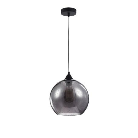 Подвесной светильник Maytoni Bergen T314-11-B, 1xE27x60W, черный, дымчатый, металл, стекло - миниатюра 2