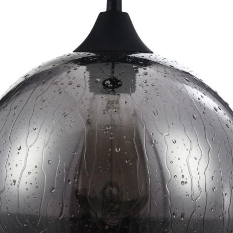 Подвесной светильник Maytoni Bergen T314-11-B, 1xE27x60W, черный, дымчатый, металл, стекло - миниатюра 3