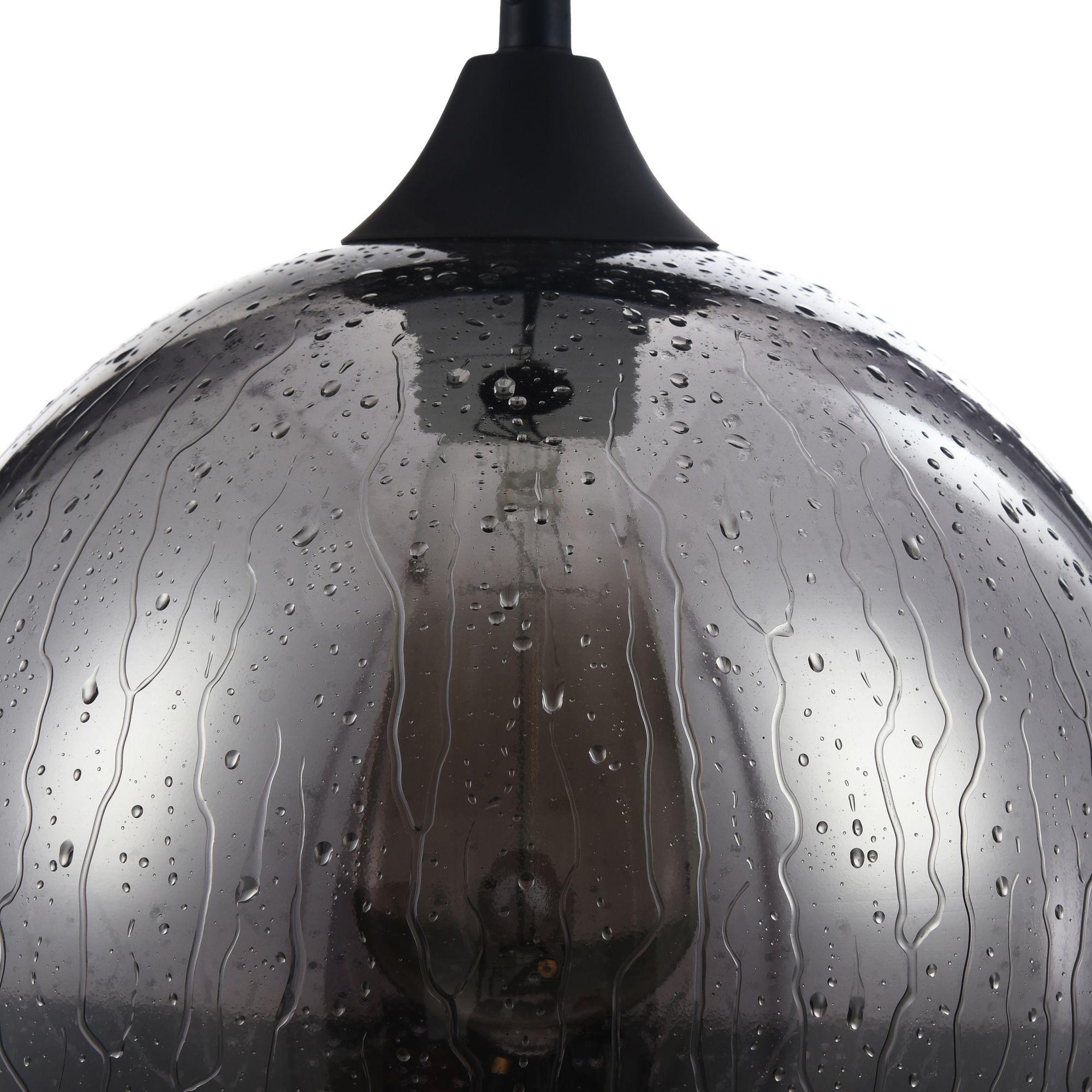 Подвесной светильник Maytoni Bergen T314-11-B, 1xE27x60W, черный, дымчатый, металл, стекло - фото 3