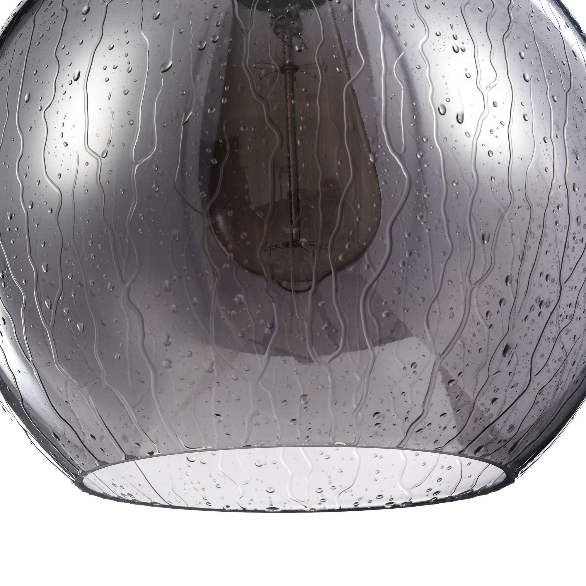 Подвесной светильник Maytoni Bergen T314-11-B, 1xE27x60W, черный, дымчатый, металл, стекло - фото 4