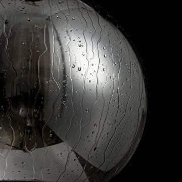 Подвесной светильник Maytoni Bergen T314-11-B, 1xE27x60W, черный, дымчатый, металл, стекло - миниатюра 5