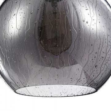 Подвесной светильник Maytoni Bergen T314-11-B, 1xE27x60W, черный, дымчатый, металл, стекло - миниатюра 7