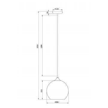 Схема с размерами Maytoni T314-11-B