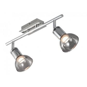 Потолочный светильник с регулировкой направления света Maytoni Axion ECO003-02-N, 2xGU10x4W, никель, дымчатый, металл, стекло
