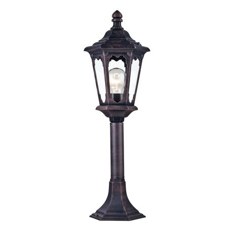 Садово-парковый светильник Maytoni Oxford S101-60-31-B, IP44, 1xE27x60W, черный, прозрачный, металл, стекло