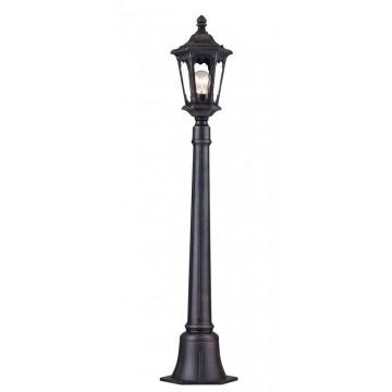 Уличный фонарь Maytoni Oxford S101-108-51-B, IP44, 1xE27x100W, черный, прозрачный, металл, металл со стеклом