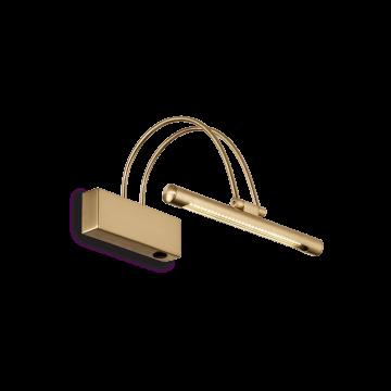 Настенный светодиодный светильник для подсветки картин Ideal Lux BOW AP D26 OTTONE SATINATO 121154 (BOW AP36 OTTONE SATINATO), LED 2,52W 3000K 350lm, золото, металл