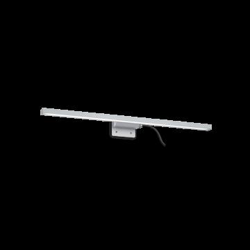 Мебельный светодиодный светильник Ideal Lux EDGAR AP49 ALLUMINIO 136585, IP44, алюминий, белый, металл, пластик