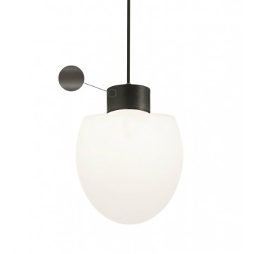 Подвесной светильник Ideal Lux CONCERTO SP1 ANTRACITE 149974, IP44, 1xE27x60W, серый, белый, металл, пластик