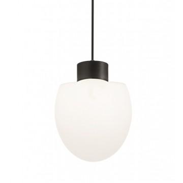 Подвесной светильник Ideal Lux CONCERTO SP1 NERO 150000, IP44, 1xE27x60W, черный, белый, металл, пластик