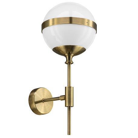 Бра Lightstar Globo 813611, 1xE14x40W, бронза, металл, стекло