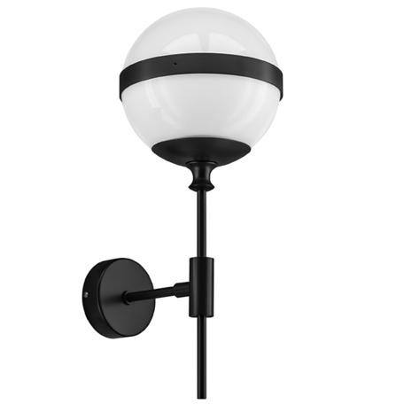 Бра Lightstar Globo 813617, 1xE14x40W, черный, черно-белый, металл, стекло