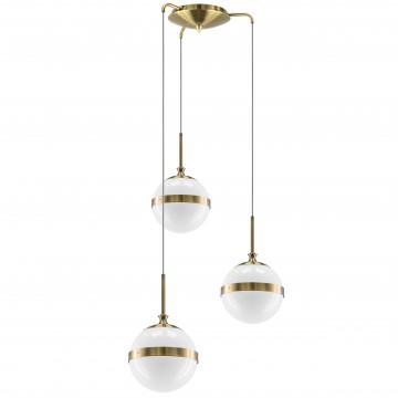 Люстра-каскад Lightstar Globo 813131, 3xE14x40W, бронза, металл, стекло