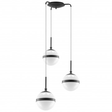 Люстра-каскад Lightstar Globo 813137, 3xE14x40W, черный, черно-белый, металл, стекло
