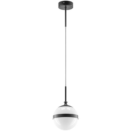 Подвесной светильник Lightstar Globo 813117, 1xE14x40W, черный, черно-белый, металл, стекло