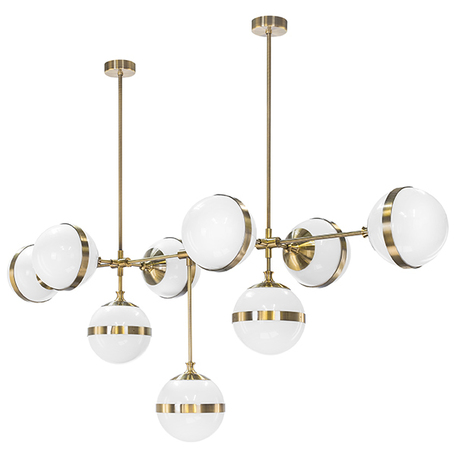 Потолочная люстра Lightstar Globo 813191, 9xE14x40W, бронза, металл, стекло