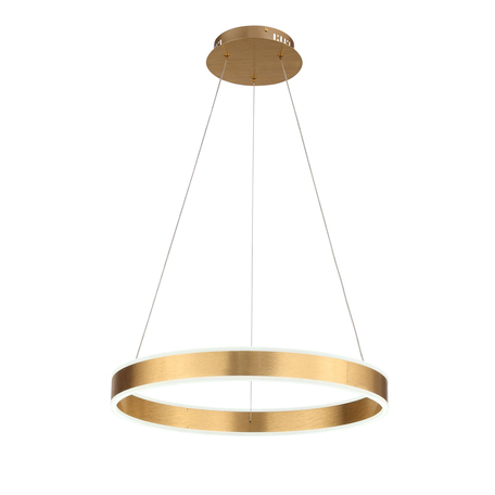 Подвесной светодиодный светильник ST Luce Onze SL944.203.01, LED 40W 3000-6000K 2134lm, матовое золото, металл, металл с пластиком