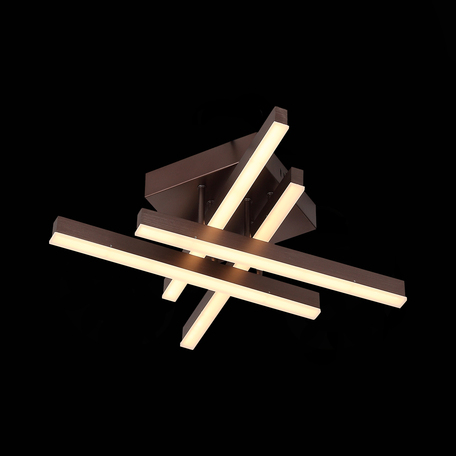 Потолочная светодиодная люстра ST Luce Samento SL933.702.04, LED 24W 3000-6000K, металл