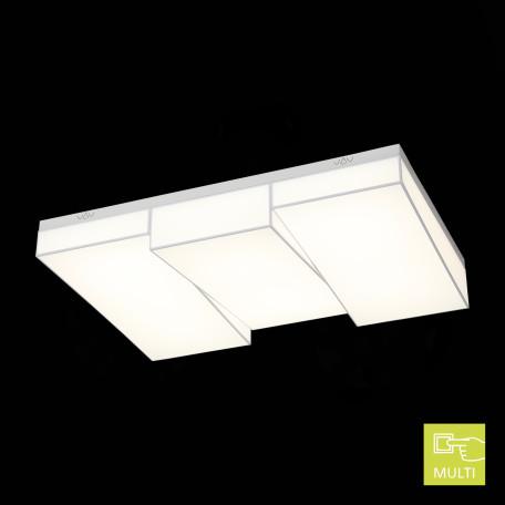 Потолочный светодиодный светильник ST Luce Faleto SL416.502.03, LED 210W 25200lm, белый, металл, текстиль