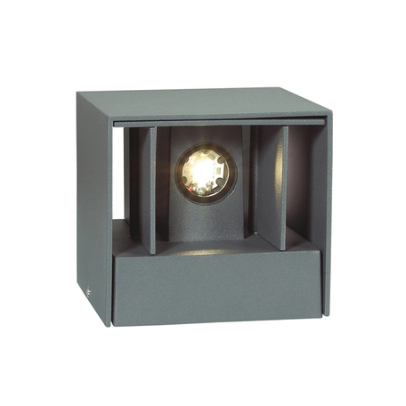 Настенный светодиодный светильник Novotech Kaimas 357402, IP54, LED 6W 3000K 163lm, серый, металл, стекло