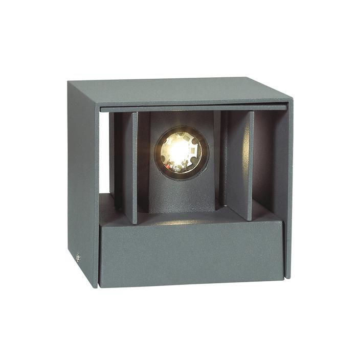 Настенный светодиодный светильник Novotech Kaimas 357402, IP54, LED 6W 3000K 163lm, серый, металл, стекло - фото 1