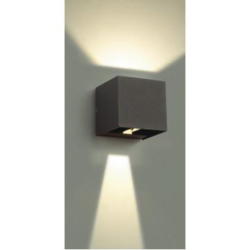 Настенный светодиодный светильник Novotech Kaimas 357402, IP54, LED 6W 3000K 163lm, серый, металл, стекло - миниатюра 3