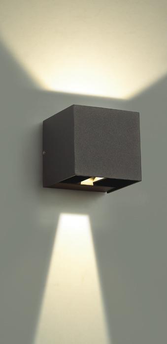 Настенный светодиодный светильник Novotech Kaimas 357402, IP54, LED 6W 3000K 163lm, серый, металл, стекло - фото 3