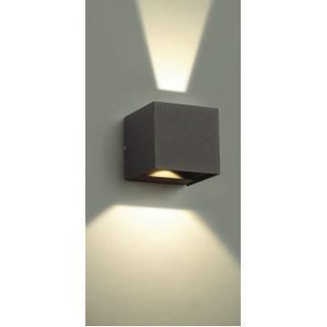 Настенный светодиодный светильник Novotech Kaimas 357402, IP54, LED 6W 3000K 163lm, серый, металл, стекло - миниатюра 4