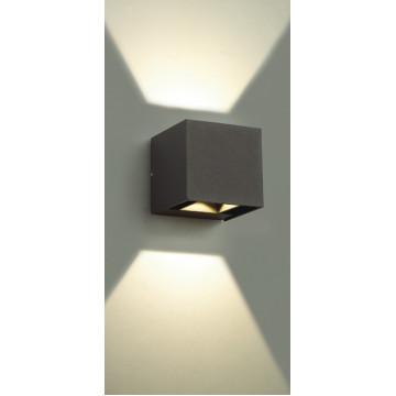 Настенный светодиодный светильник Novotech Kaimas 357402, IP54, LED 6W 3000K 163lm, серый, металл, стекло - миниатюра 5