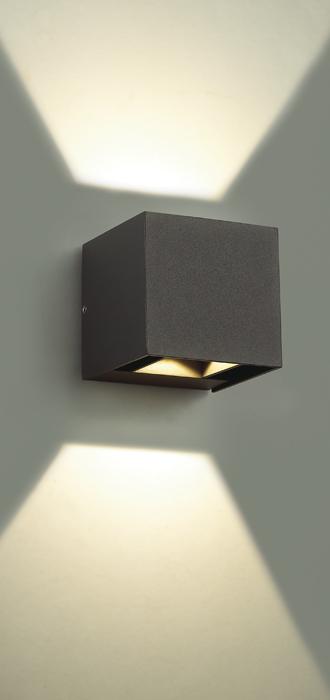Настенный светодиодный светильник Novotech Kaimas 357402, IP54, LED 6W 3000K 163lm, серый, металл, стекло - фото 5