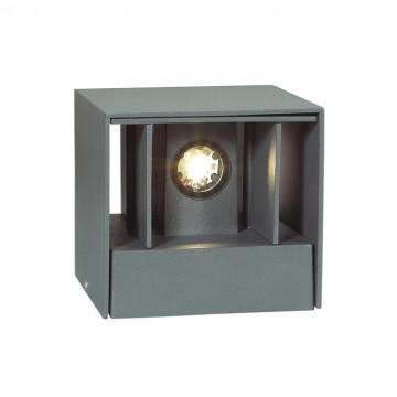 Настенный светодиодный светильник Novotech Kaimas 357402, IP54, LED 6W 3000K 163lm, серый, металл, стекло - миниатюра 7